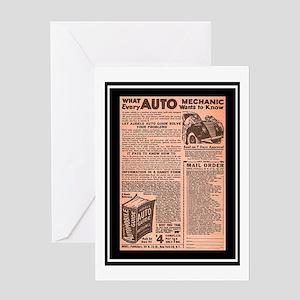 """Auto Guide-Circa 1960"" Greeting Card"