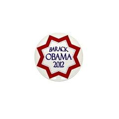 Barack Obama Star for 2012 Mini Button