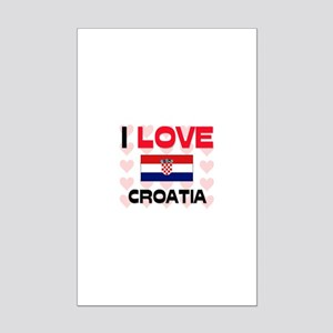 I Love Croatia Mini Poster Print