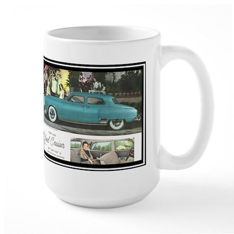 """""""1950 Studebaker Land Cruiser Ad"""" Large Mug"""