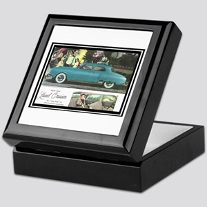 """1950 Studebaker Land Cruiser Ad"" Keepsake Box"