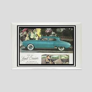 """""""1950 Studebaker Land Cruiser Ad"""" Rectangle Magnet"""