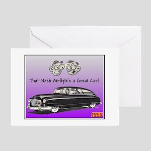 """""""1950 Nash Ad"""" Greeting Card"""