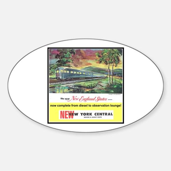 """1949 New England States Ad"" Oval Decal"