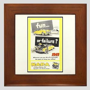 """""""1949 NAPA Ad"""" Framed Tile"""