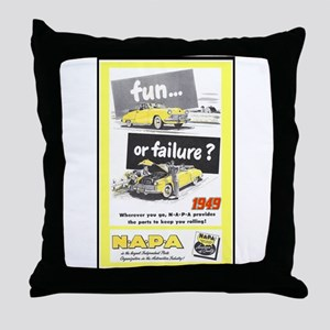"""1949 NAPA Ad"" Throw Pillow"