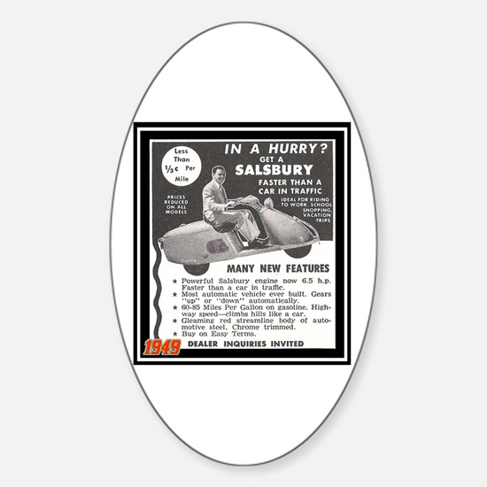 """Salsbury Scooter Ad"" Oval Decal"