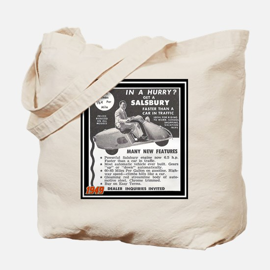 """""""Salsbury Scooter Ad"""" Tote Bag"""