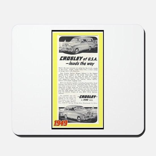 """""""1948 Crosley Ad"""" Mousepad"""