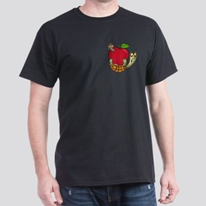 Turtle Apple Surprise Black T-Shirt