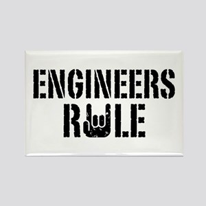 Engineers Rule Rectangle Magnet