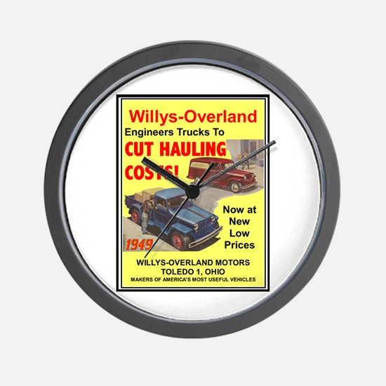 """1949 Willys Ad"" Wall Clock"