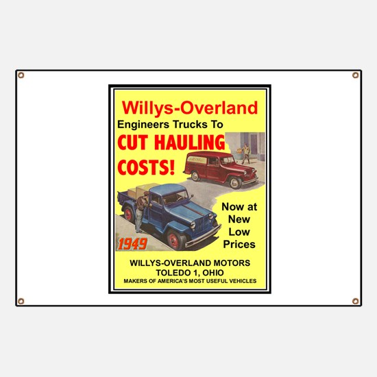 """""""1949 Willys Ad"""" Banner"""