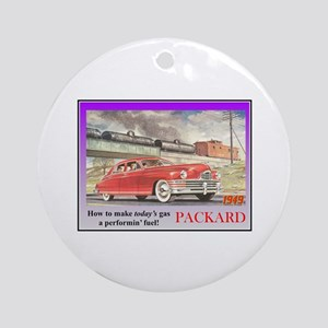 """1949 Packard Ad"" Ornament (Round)"