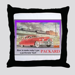"""1949 Packard Ad"" Throw Pillow"