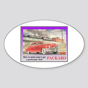 """1949 Packard Ad"" Oval Sticker"