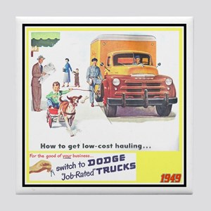 """1949 Dodge Trucks"" Tile Coaster"
