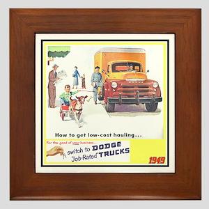 """""""1949 Dodge Trucks"""" Framed Tile"""