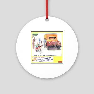 """""""1949 Dodge Trucks"""" Ornament (Round)"""