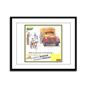 """""""1949 Dodge Trucks"""" Framed Panel Print"""