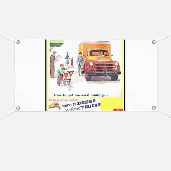 """""""1949 Dodge Trucks"""" Banner"""