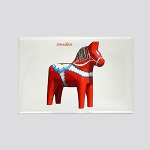 Dala Horse Rectangle Magnet