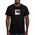 Climbing Girl Icon Men's Fitted T-Shirt (dark)