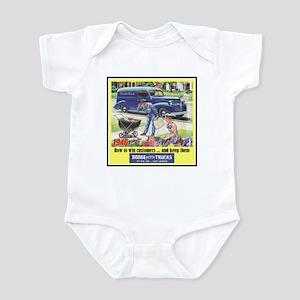 """1946 Dodge Truck Ad"" Infant Bodysuit"