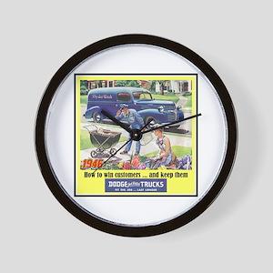 """""""1946 Dodge Truck Ad"""" Wall Clock"""