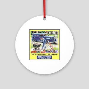 """""""1946 Dodge Truck Ad"""" Ornament (Round)"""