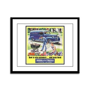 """1946 Dodge Truck Ad"" Framed Panel Print"