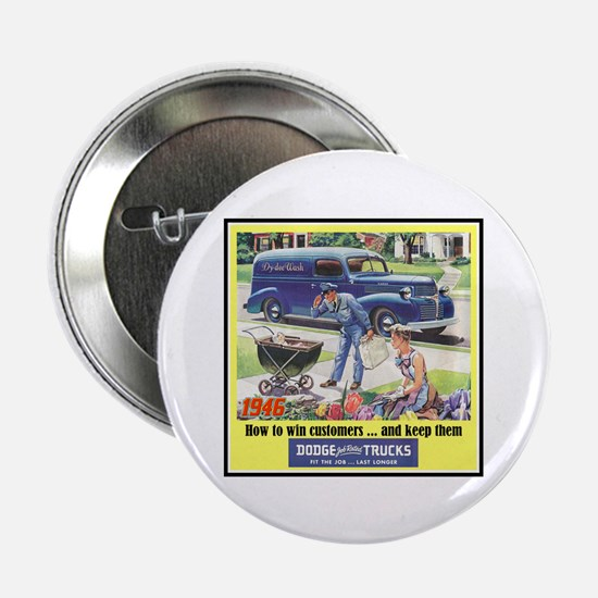 """""""1946 Dodge Truck Ad"""" 2.25"""" Button (100 pack)"""