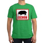 Lechon Men's Fitted T-Shirt (dark)