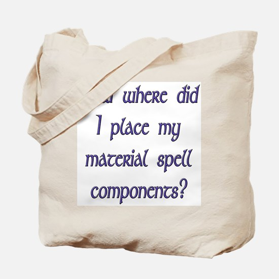 Material Spell Components Tote Bag