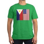Philippine Flag & US Flag Men's Fitted T-Shirt