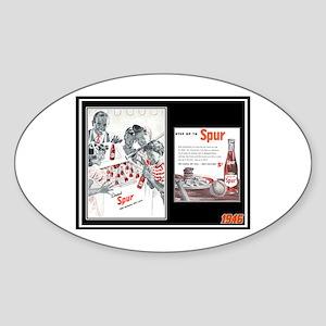 """1946 Spur Cola Ad"" Oval Sticker"
