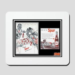 """""""1946 Spur Cola Ad"""" Mousepad"""