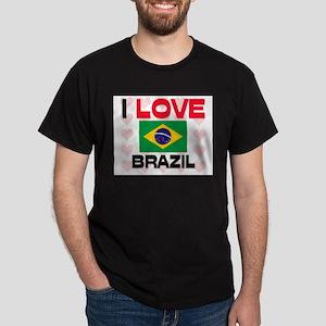 I Love Brazil Dark T-Shirt
