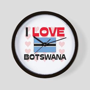 I Love Botswana Wall Clock
