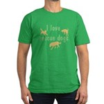 I Love Rescue Dogs Men's Fitted T-Shirt (dark)