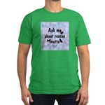 Ask Me About Rescue Mutts Men's Fitted T-Shirt (da