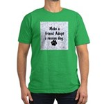 Adopt A Rescue Dog Men's Fitted T-Shirt (dark)