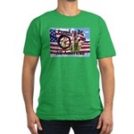 Chewie and Lucky Flag Men's Fitted T-Shirt (dark)