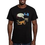 Whatcha Doin Men's Fitted T-Shirt (dark)