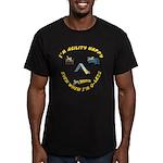 Happy Q-Less Men's Fitted T-Shirt (dark)