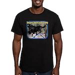 Success Dog Art Men's Fitted T-Shirt (dark)