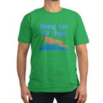Diving Dog Men's Fitted T-Shirt (dark)