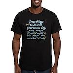 Great Dog Activities Men's Fitted T-Shirt (dark)