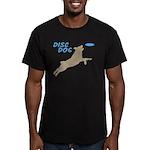 Disc Dog (3) Men's Fitted T-Shirt (dark)