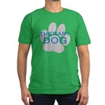Therapy Dog Men's Fitted T-Shirt (dark)